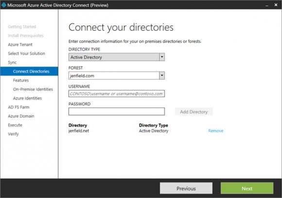 Azure Active Directory Connect liegt ab sofort als öffentliche Preview vor (Bild: Microsoft).
