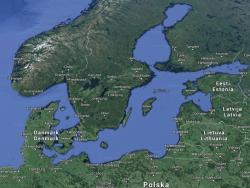 Das neue Unterseekabel verbindet Rostock und Helsinki (Bild: ZDNet.de via Google Earth).