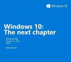Microsoft lädt zu einem Windows-10-Event am 21. Januar 2015 ein (Bild: Microsoft).
