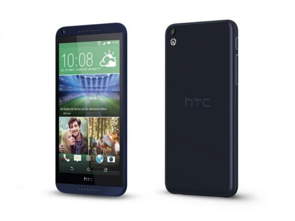 Das Desire 816G unterscheidet sich in einigen Punkten vom Single-SIM-Modell Desire 816 (Bild: HTC).