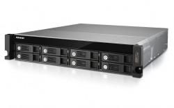 Die Serverschrank-Modelle TVS-871U-RP sind mit bis zu acht 8-TByte-Laufwerken bestückbar (Bild: Qnap).