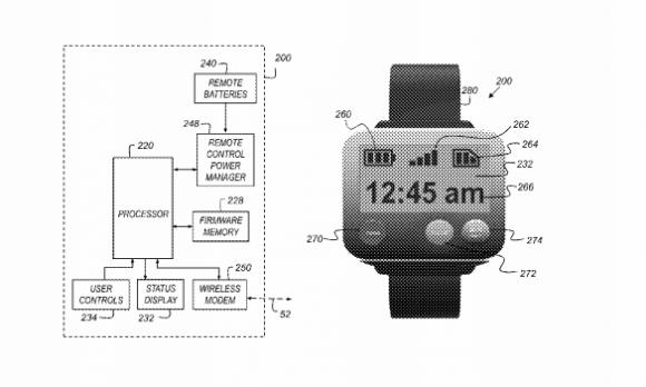 Apple hat ein Patent für eine Action-Kamera mit einer am Handgelenk getragenen Fernbedienung erhalten (Bild: USPTO).