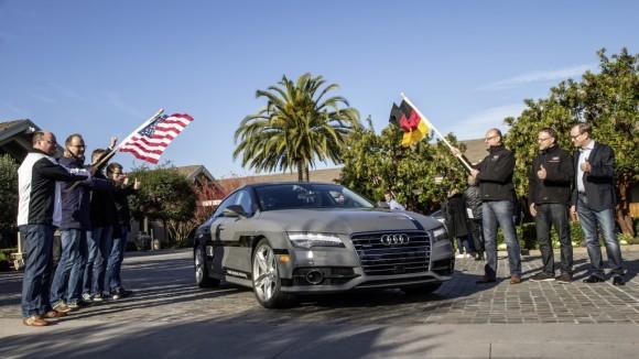 Audi A7 Sportback pilotiert von Stanford nach Las Vegas (Bild: Audi)