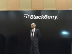 Blackberry-Manager Sandeep Chennakeshu auf der CES (Bild: News.com)