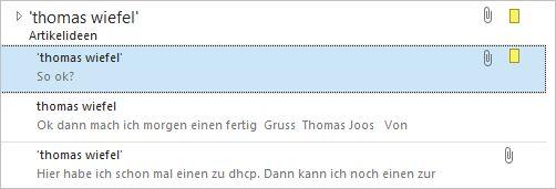 E-Mails lassen sich in Unterhaltungen sortieren und so effizienter verwalten (Screenshot: Thomas Joos)