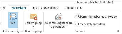 Anfordern von Bestätigungen für neue E-Mails (Screenshot: Thomas Joos).
