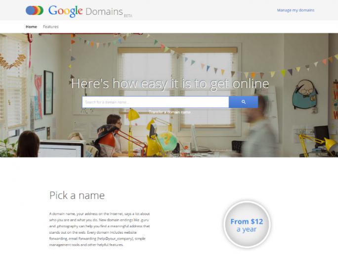 Google Domains ist aktuell nur als Beta in den USA verfügbar (Screenshot: ZDNet.de).