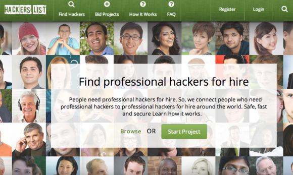 Hacker's List (Screenshot: ZDNet.com)