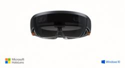 Windows 10 unterstützt auch eine Holografie-Technik, die sich zusammen mit Microsofts neuer Augmented-Reality-Brille HoloLens nutzen lässt (Bild: Microsoft).