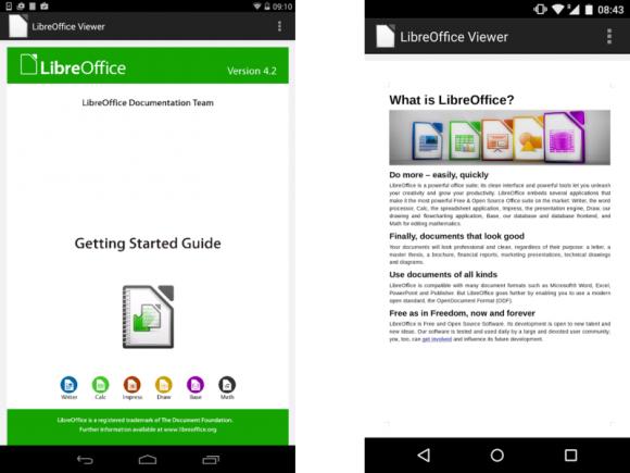 Mit dem LibreOffice Viewer lassen sich beispielsweise ODF-Dateien unter Android betrachten, aber nicht bearbeiten (Bild: Collabora).