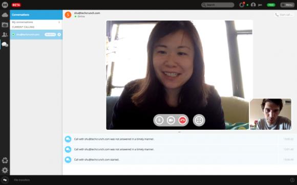 MegaChat sichert Audio- und Videotelefonate per Ende-zu-Ende-Verschlüsselung ab (Screenshot: TechCrunch).