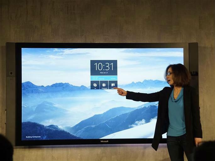 "Microsoft stellt digitales Whiteboard ""Surface Hub"" vor ..."