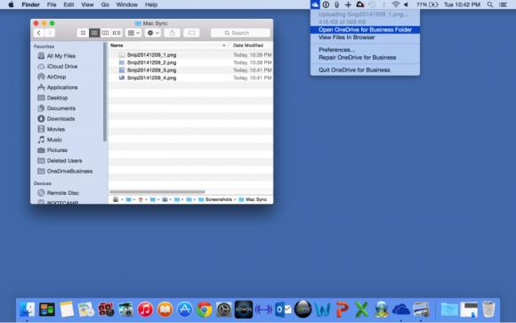 Ein Client für OneDrive for Business ist jetzt auch als Preview für Mac verfügbar (Bild: Microsoft).