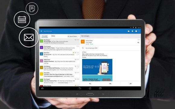 Outlook auf Android-Tablet (Bild: Microsoft)