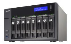 Das Turbo-NAS-Modell TVS-871 besitzt acht Einschübe und bis zu 16 GByte RAM (Bild: Qnap).