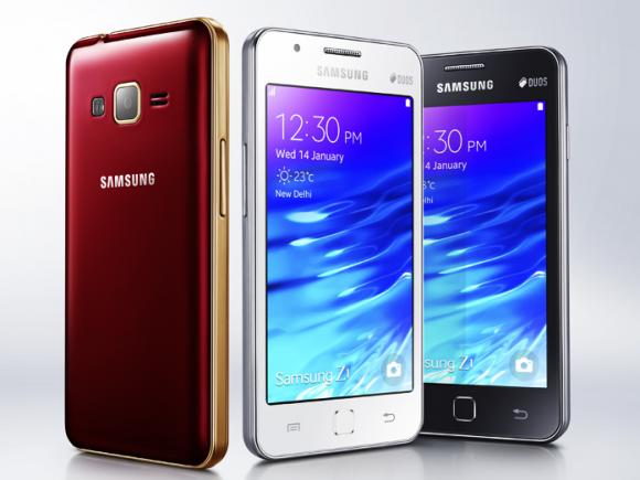 Das Samsung Z1 ist das erste erhältliche Smartphone mit Tizen OS (Bild: Samsung).