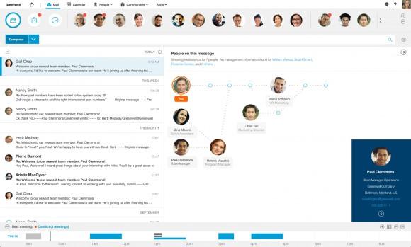 Der neue IBM E-Mail-Client bietet erweiterte Möglichkeiten der E-Mail-Verwaltung sowie die Anbindung sozialer Medien und Blogs (Bild: IBM).