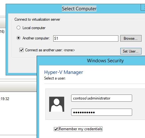 Mit dem Hyper-V-Manager verwalten Sie Hyper-V in Windows 10 und Windows Server vNext auch im Netzwerk optimal (Screenshot: Thomas Joos).