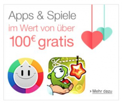 Amazon App-Aktion (Screenshot: CNET.de)