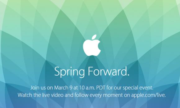 Einladung zum Apple-Event am 9. März 2015 (Bild: Apple)