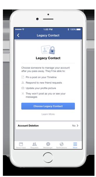 Facebook ermöglicht Online-Testament
