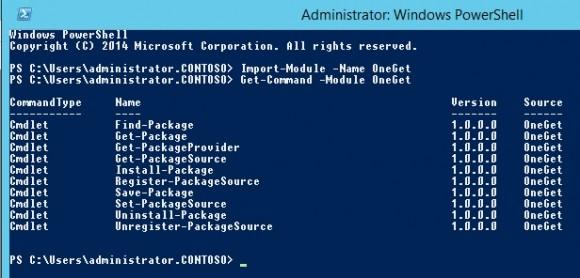 Mit der PowerShell 5.0 bietet Microsoft jetzt auch eine Paketverwaltung (Screenshot: Thomas Joos).