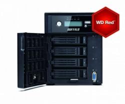 Das Desktop-Modell Terastation 5400DWR verfügt – ebenso wie die Rackmount-Version 5400RWR – über vier HDD-Einschübe (Bild: Buffalo).