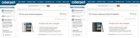 HTC One M9 bei Cyberport (Screenshot: CNET.de)