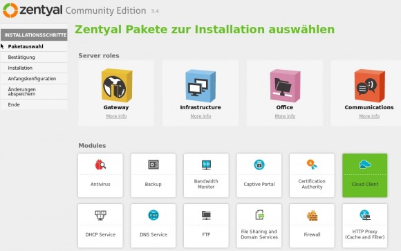 Auch Linux-Alternativen zu Microsofts Small Business-Server setzen oft auf Zarafa als E-Mail-Server (Screenshot: Thomas Joos)