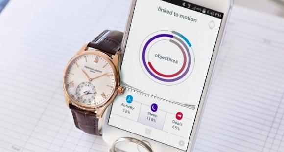 Uhr mit Ziffernblatt und iPhone-Anbindung (Bild: Frédérique Constant)