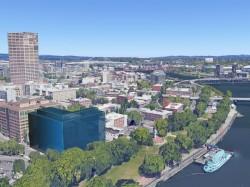 Mit Google Earth Pro lassen sich etwa Gebäude in der 3D-Ansicht modellieren (Bild: Google).