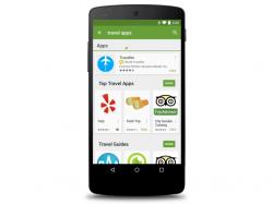 Google zeigt künftig auch im Play Store Suchanzeigen an (Bild: Google).