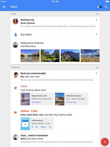 Google hat Inbox für iPad optimiert (Bild: Google).