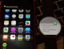 iOS-Benachrichtigung unter Android Wear (Screenshot: ZDNet.de bei Youtube)
