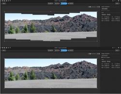 Auto-Vervollständigen einer Panorama-Aufnahme (Bild: Stephen Shankland / CNET)