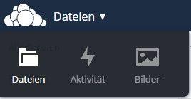 Das jungfräuliche Menü von ownCloud 8 kommt nun ohne Kalender-, Kontakte und Dokumente-App (Screenshot: Christian Lanzerath).