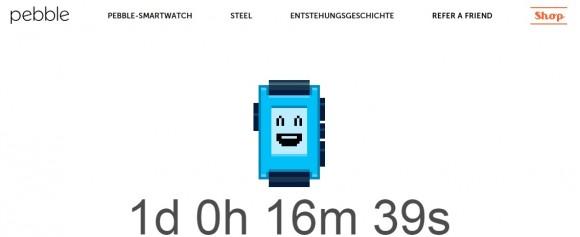 Pebble-Countdown (Bild: Pebble)