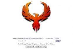 Auf der neuen Pirate-Bay-Site ersetzt derzeit ein Phönix das bekannte Piratenschiff-Logo (Screenshot: CNET).