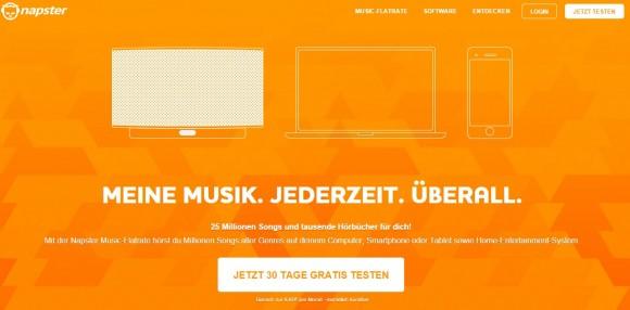 In Deutschland ist Rhapsody als Napster präsent (Screenshot: ZDNet.de)