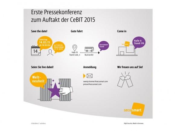 Secusmart: CeBIT-Einladung (Bild: Secusmart)