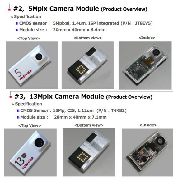 Toshiba zeigt Kameramodule für Project Ara (Bild: Toshiba)