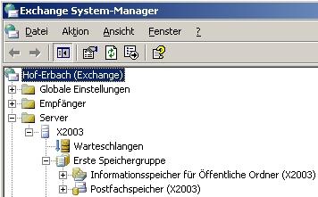 Betagte Microsoft-Server wie Exchange Server 2003 müssen ebenfalls zu neuen Versionen migriert werden um Sicherheitsgefahren im Netzwerk zu vermeiden (Screenshot: Thomas Joos).