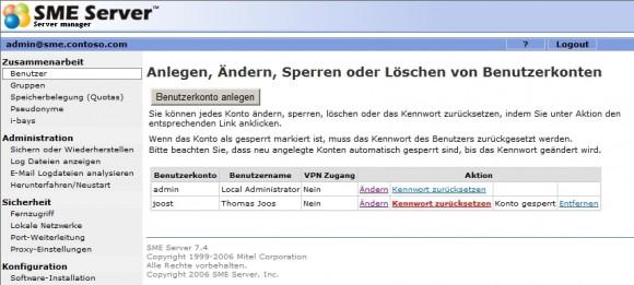 Linux-Server können ebenfalls die Aufgaben betagter Windows-Server übernehmen, auch im E-Mail-Bereich (Screenshot: Thomas Joos).