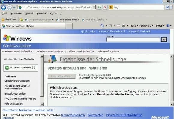 Nach einige Aktualisierungsvorgängen ist der Server auf dem neusten Stand und halbwegs sicher (Screenshot: Thomas Joos).