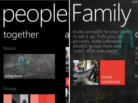 """Zum März stellt Microsoft den Windows-Phone-Gruppenchat """"Räume"""" ein (Bild: Jessica Dolcourt/CNET)."""