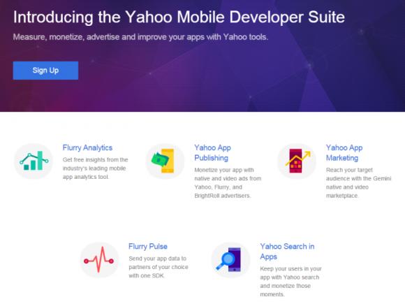Yahoos Mobile Developer Suite basiert zum Großteil auf der Analytics-Technik von Flurry (Screenshot: ZDNet.de).