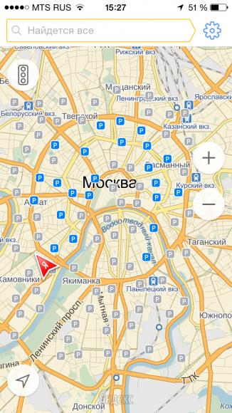 Yandex-Parking (Screenshot: Yandex)