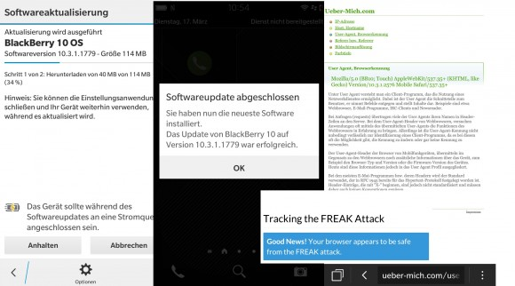 Blackberry Freak-Patch fuer Z30 10.3.1.1779 (Screenshot: ZDNet.de)
