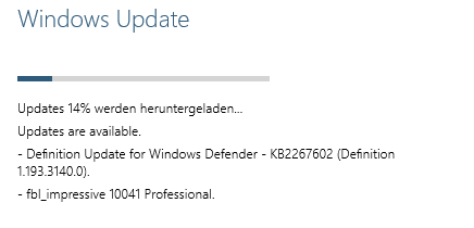 Windows-10-Update von Build 9926 auf 10041 (Screenshot: ZDNet.de)