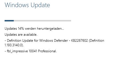 Windows-10-Update von Build 9926 auf 10041 (Screenshot: ZDNet.de)